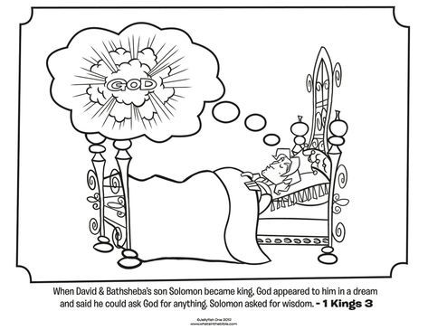 King Solomon Bible Coloring Pages Bible Coloring Pages