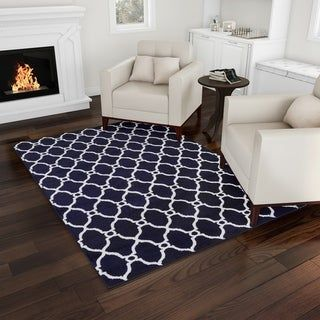 Lattice Area Rug By Windsor Home 5x7 5 X 7 Charcoal Navy Blue White Online Home Decor Stores Windsor Homes Home Decor