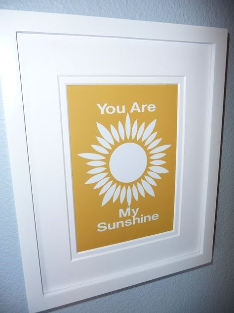 Custom YOU Are MY SUNSHINE Art print Childrens Wall Decor Keepsake. $14.00, via Etsy.