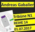 #Ticket  ANDREAS GABALIER 2017 SITZPLÄTZE TRIBÜNE N1 TICKETS OLYMPIASTADION MÜNCHEN 2.0 #Ostereich