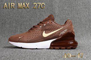 Hot Selling Nike Air Max 27c Kpu Brown Beige White Men S Running Athletic Sport Shoes Nike Air Max Brown Nike Shoes Air Max