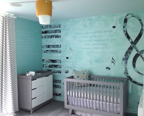 Modern Baby Room With Music Theme
