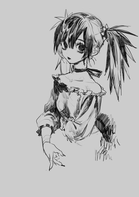 Anime Drawings Sketches, Anime Sketch, Cute Drawings, Cartoon Drawings, Art Inspo, Kunst Inspo, Art And Illustration, Character Illustration, Anime Art Girl