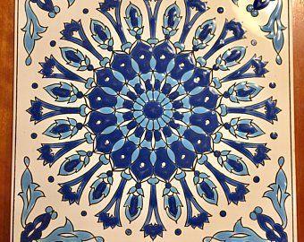 Greek Ceramic Tile Ceramic Wall Hanging Greek Art Trivet Etsy Greek Art Ceramic Wall Art Wall Hanging