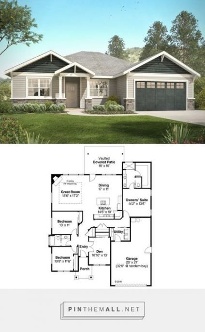 House Plans Brick One Story Exterior