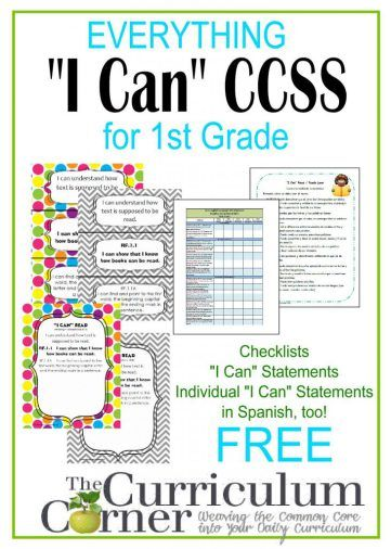 List Of Pinterest Common Core Standards Ela I Can Statements
