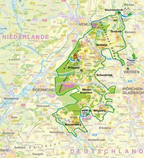 Karte Schwalm Nettetal Freizeitaktivitaten Wandern Nrw Wandern