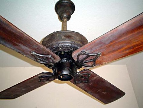 1910 15c Dayton 48 Antique Ceiling Fan Corner House Antique