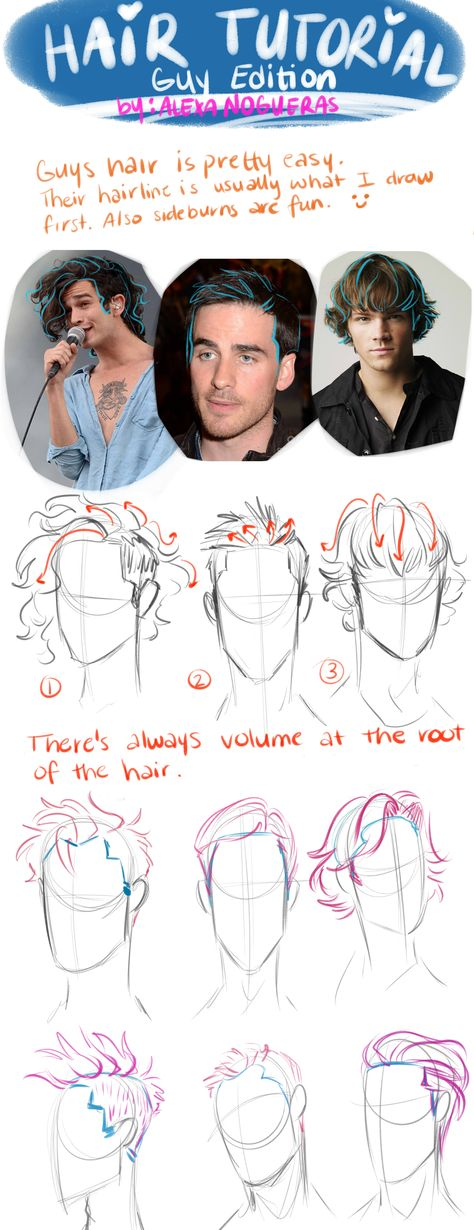19 Ideas Drawing Reference Hair Male Animation For 2019