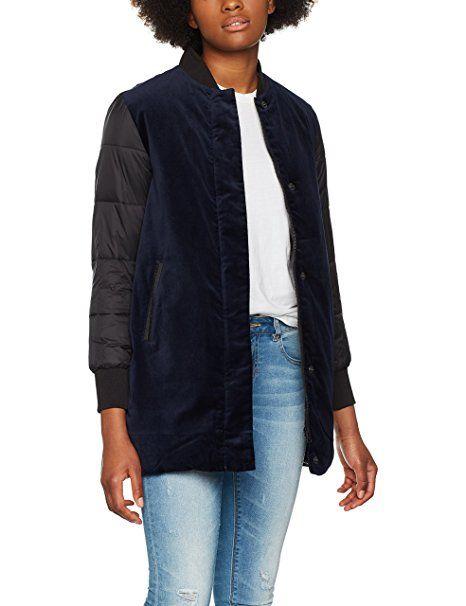 size 40 7026c 9be5c Calvin Klein Jeans Damen Bomber Jacke Ondrea Padded Long M ...