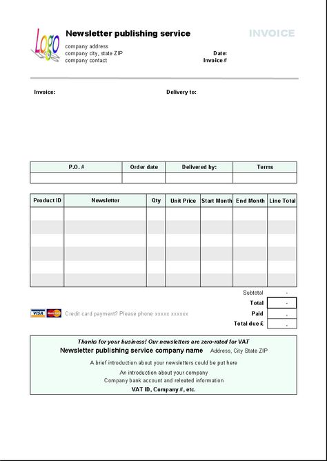 This is free invoice template \/ free invoice form is designed with - pdf invoices