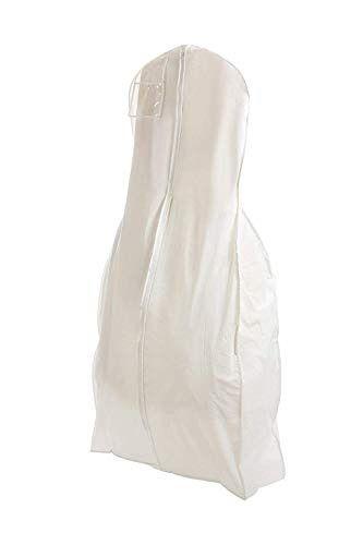 Bridal Wedding Dress Storage Gown Prom Garment Bag Center Zipper Large White Fashion Clot Dress Garment Bags Wedding Dress Storage Wedding Dress Garment Bags