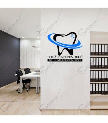 Dentist Wall Art Stomatologie Cabinet Fogaszati Rendelo Sticker Inscriptionare Dedicat Cabinet Stomatologic Fogaszati Rendelo Home Decor Decals Home Cabinet
