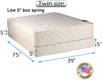 Dream Solutions Usa Grandeur Deluxe Mattress And Low 5 Quot Height Box Spring Set With Bed Frame Included Goo Spring Set Box Spring California King Mattress Twin size bed with mattress included