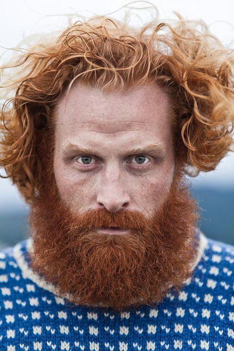 """for-redheads: """"Kristofer Hivju by Eirik Johnsen (Tormund Giantsbane, Game of Thrones) """" Portrait Fotografie Inspiration, Fotografie Portraits, Ginger Men, Ginger Beard, Wild Ginger, Ginger Hair, Face Men, Male Face, Amazing Photography"""