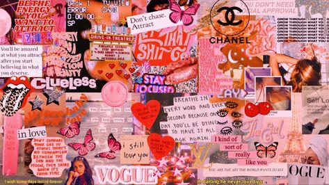 Trendy laptop wallpaper collage