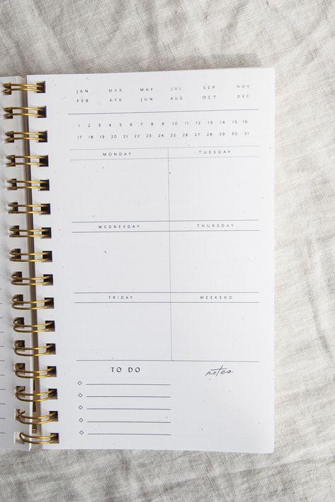 Painted Weekly Planner