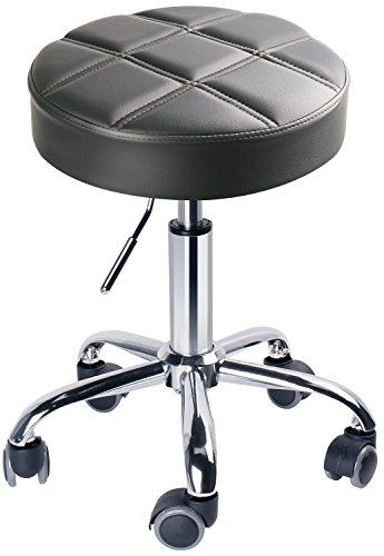 Leopard Swivel Chair Bar Stool Round Rolling Adjustable Working Stools With Wheels Grey Stool With Wheels Stool Adjustable Stool