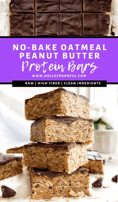 Protein Muffins, Protein Snacks, Protein Dinner, Healthy Protein Bars, Peanut Butter Protein Bars, Protein Bar Recipes, Peanut Butter Oatmeal, Healthy Fats, High Protein