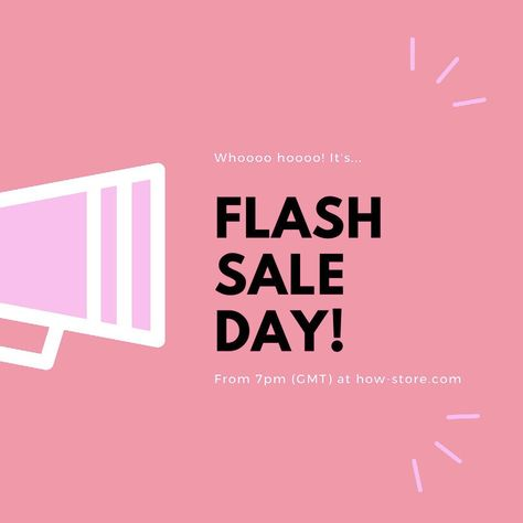 It's flash sale day! Tonight from 7pm over at www.how-store.com we will be holding one of our legendary sales! Grab some bargains and even a few freebies too but be quick! ✌🏻