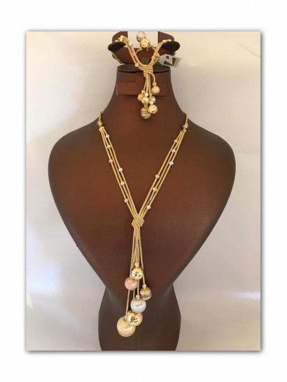 Isagha نصف طقم ذهب عيار 18 Gold Necklace Gold Jewelry