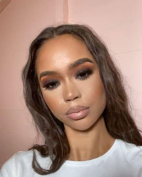 Fancy Makeup, Glam Makeup, Skin Makeup, Makeup Inspo, Bridal Makeup, Makeup Inspiration, Beauty Makeup, Hair Beauty, Black Girl Makeup