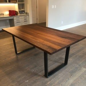 Black Walnut Kitchen Island Top Counter Top Wood Counter Etsy In 2021 Walnut Dining Table Black Walnut Table Contemporary Kitchen Tables