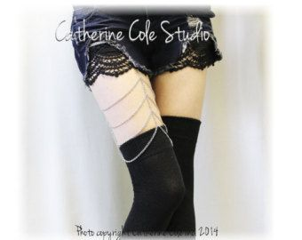 e2a29e12cf2 LARGER Sock Garters Thigh High Garters   Single Grip   Made In USA  Steampunk Garters A Timeless Vintage Menswear Style Catherine Cole