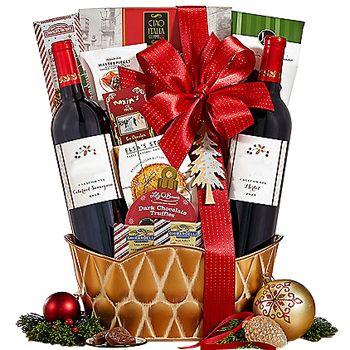 Winter Wonderland Gift Assortment To Canada Wine Gift Baskets