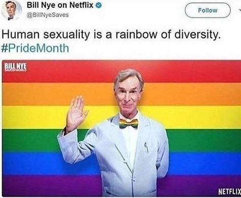 BILL NYE THE GAY PRIDE GUY *chants bill in the background*