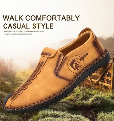 Casual Shoes Leather Soft Leisure Men/'s Loafers Adults Breathable Footwear LL