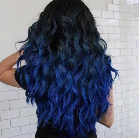 Best Blue Ombre Hair Color - Best Ombre Hair. Brown, Red, Purple, Vibrant, Blonde, Caramel Ombre #balayageombre #haircolor #ombrehair #ombrehaircolor #ombre #ombrecolor