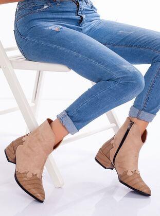 ملون جزم Tan Boots Fox Shoes Blue Tunics
