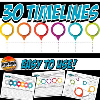 History Timeline Bundle For Us World Or Ancient History Historical Event History Lesson Plans Teaching American History Middle School History