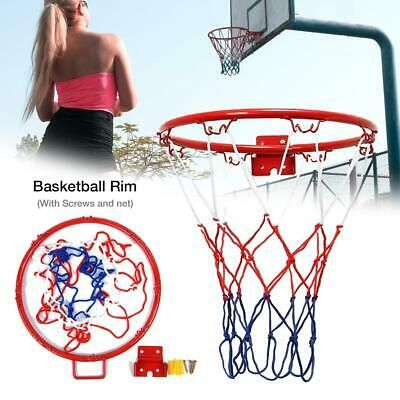 Advertisement Ebay Hanging Basketball Wall Mounted Goal Hoop Rim With Net Screw For Outdoors Indoor In 2020 Basketball Rim Basketball Wall Basketball Design