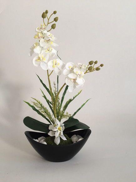 Compre Arranjo De Orquideas Artificiais Brancas No Elo7 Por R 99