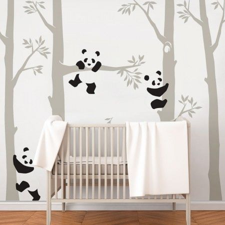 Trees With Pandas Wall Decal Baby Room Wall Nursery Baby Room