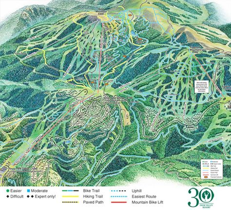 The Deer Valley Summer Trail Map Go Hiking Deer Valley Deer