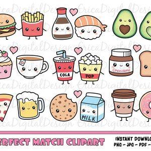 Premium Vector Clipart Kawaii Desayuno Clipart Kawaii Food Etsy Kawaii Clipart Clip Art Kawaii Sweets