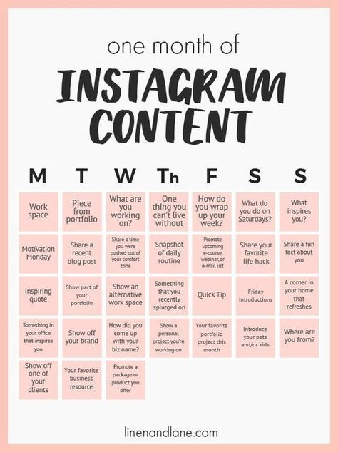 One month of content ideas for your Instagram #socialmedia #marketing #authors #writers #Instagram