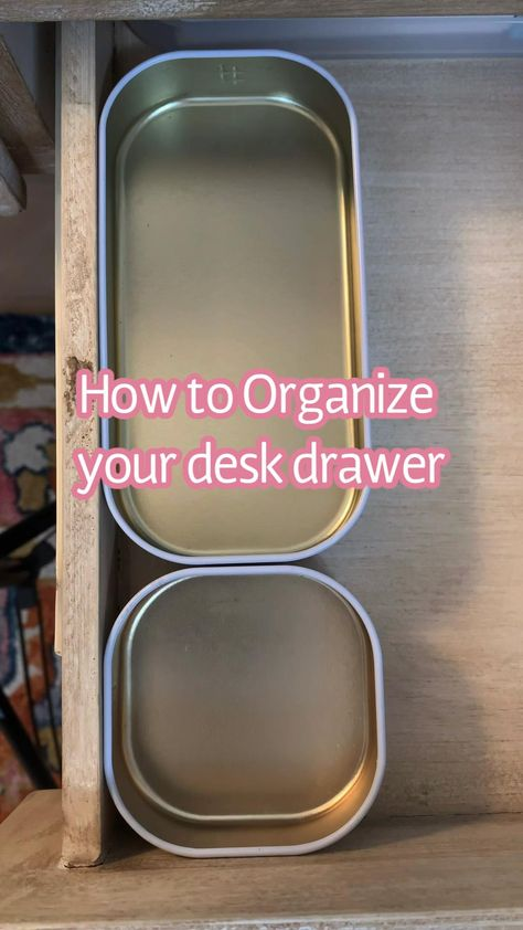 Home Office Desk Organization tips - diy storage for desk drawer - work from home