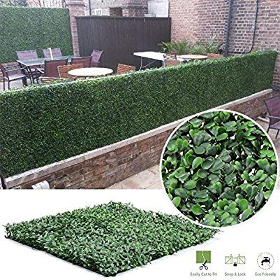 Amazon Com Synturfmats Faux Artificial Boxwood Hedge Panels Indoor Outdoor Privacy Fence Artificial Plants Outdoor Small Artificial Plants Artificial Plants