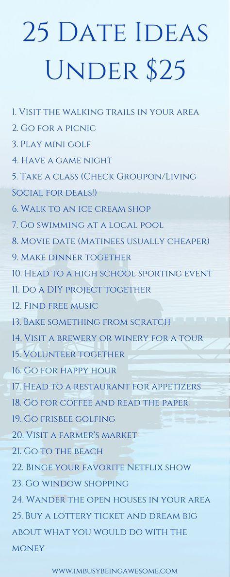 25 Date Ideas Under $25