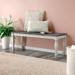 Darby Home Co Dylan Counter Height Upholstered Bench Wayfair Storage Bench With Cushion Wood Dining Bench Upholstered Storage Bench