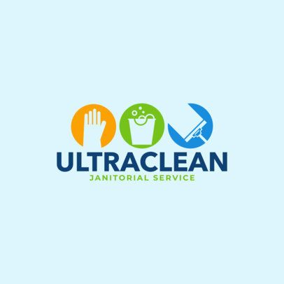 Placeit Cleaning Company Online Logo Maker Cleaning Service Logo Cleaning Company Logo Online Logo Design
