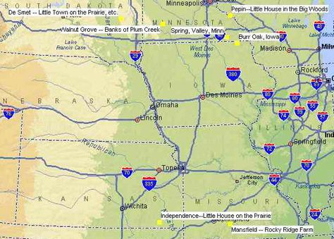laura ingalls wilder malone ny | MAP of the seven mid-west ...