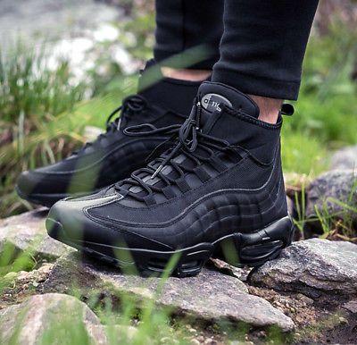 "Nike air max 95 sneakerboot ""triple black"" cold weather"