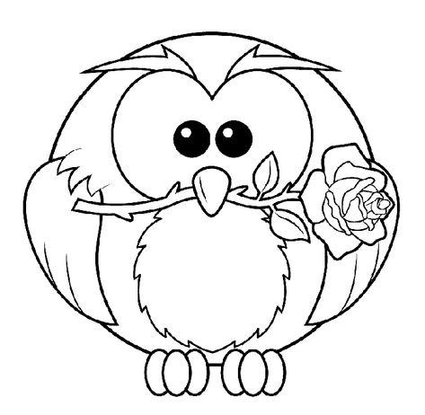 Baykuş Boyama Sayfası Hayvan Boyama Sayfası Animal Coloring