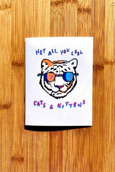 Tiger King Card Hey All You Cool Cats And Kittens Carole Baskin In 2020 King Card Cool Cats Cards