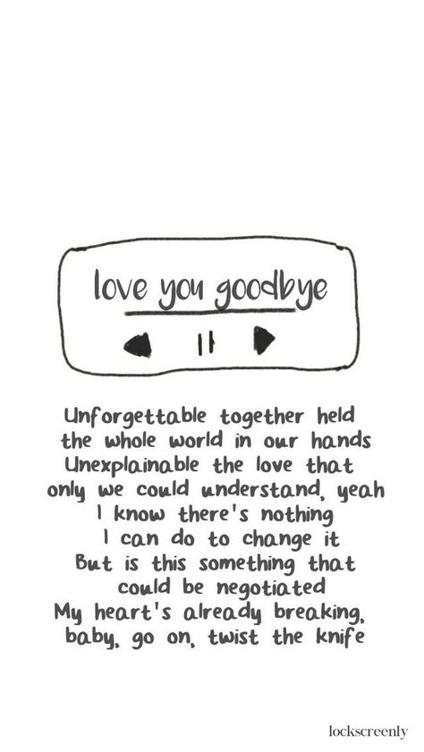 love you goodbye one direction quotes